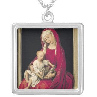 ヴァージンおよび子供1464年 シルバープレートネックレス