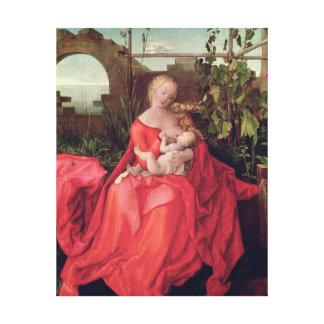 ヴァージンおよび子供「アイリスとのマドンナ」、1508年 キャンバスプリント