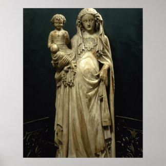 ヴァージンおよび子供、c.1375 (アラバスター) ポスター