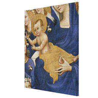 ヴァージンおよび子供、c.1395-99 キャンバスプリント