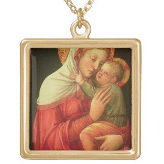 ヴァージンおよび子供、c.1465 (パネルの油) ゴールドプレートネックレス