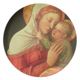 ヴァージンおよび子供、c.1465 (パネルの油) プレート