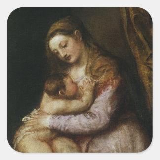 ヴァージンおよび子供、c.1570-76 スクエアシール