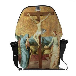 ヴァージンおよび聖ヨハネとのはりつけEv メッセンジャーバッグ