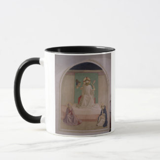 ヴァージンおよびSt. Domiを持つキリストの欺くこと マグカップ