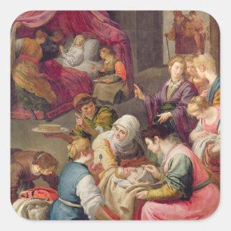 ヴァージン1640年の誕生(キャンバスの油) スクエアシール