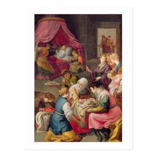 ヴァージン1640年の誕生(キャンバスの油) ポストカード
