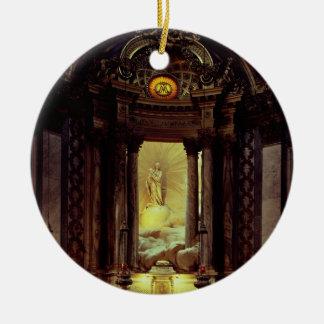 ヴァージン、1770年代(写真)のチャペル 陶器製丸型オーナメント