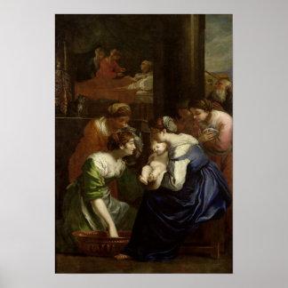 ヴァージン、c.1620の誕生 ポスター