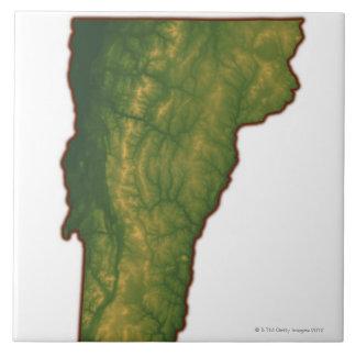 ヴァーモントの地図 タイル