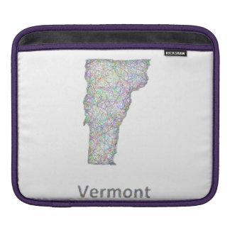 ヴァーモントの地図 iPadスリーブ