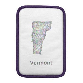 ヴァーモントの地図 iPad MINIスリーブ
