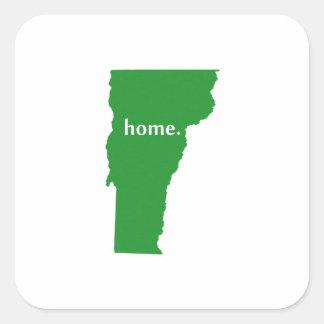 ヴァーモントの家のシルエットの州の地図 スクエアシール
