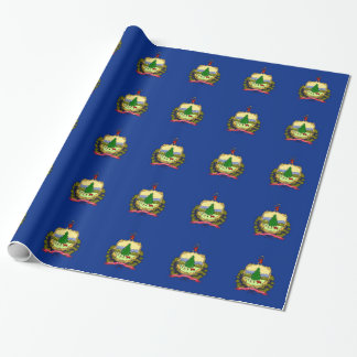ヴァーモントの旗が付いている包装紙 ラッピングペーパー