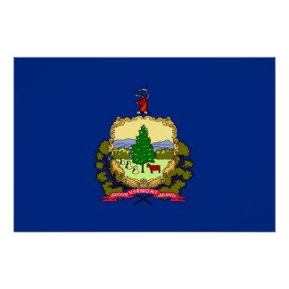 ヴァーモントの旗が付いている愛国心が強いポスター ポスター