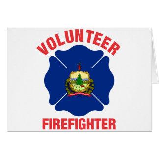 ヴァーモントの旗のボランティアの消防士の十字 カード