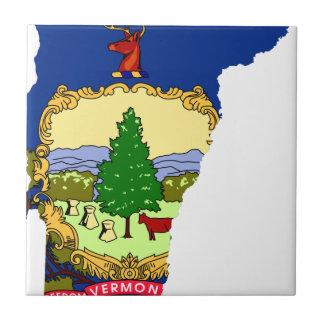 ヴァーモントの旗の地図 タイル