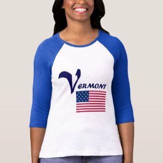 ヴァーモントの旗の青 Tシャツ