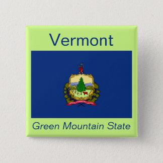 ヴァーモントの旗ボタン 缶バッジ