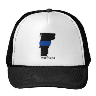 ヴァーモントの薄いブルーライントラック運転手の帽子 メッシュキャップ