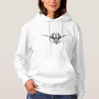 ヴァーモントの車輪クラブロゴのスエットシャツ パーカ