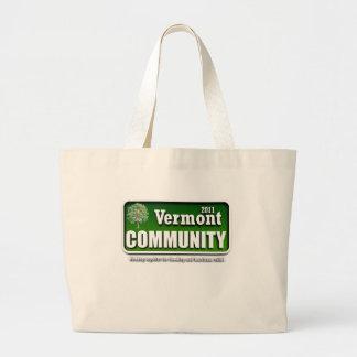 ヴァーモントの2011年のコミュニティ ラージトートバッグ