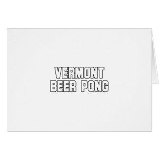 ヴァーモントビールPong カード