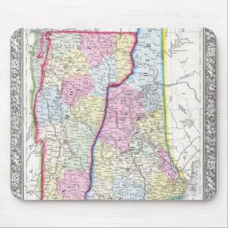 ヴァーモント及びニューハンプシャーc. 1862年の旧式な地図 マウスパッド