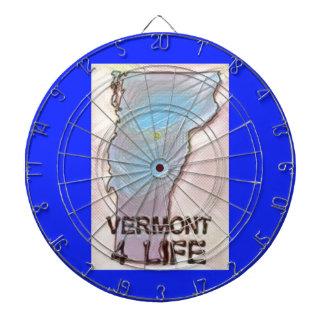 """""""ヴァーモント4生命""""の州の地図のプライドのデザイン ダーツボード"""