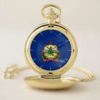 ヴァーモント、米国の愛国心が強い壊中時計の旗 ポケットウォッチ