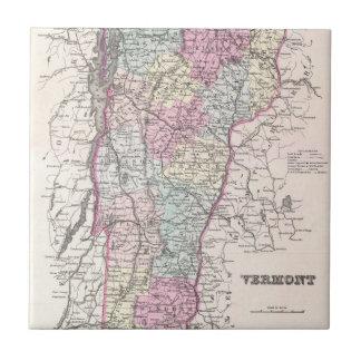 ヴァーモント(1855年)のヴィンテージの地図 タイル