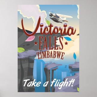ヴィクトリア滝ジンバブエの漫画ポスター ポスター