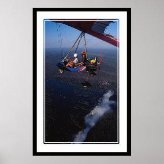 ヴィクトリア滝2上のmicrolight ポスター