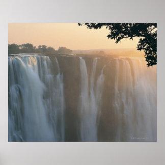 ヴィクトリア滝、ジンバブエ、アフリカ ポスター