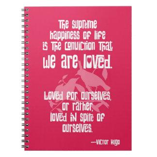 ヴィクトル・ユーゴー著生命の最高の幸福 ノートブック