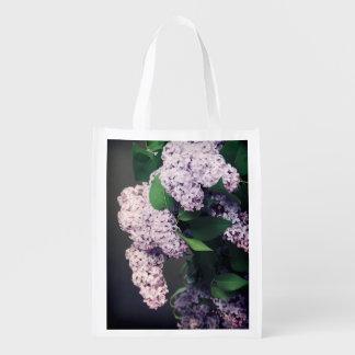 ヴィグネットの薄紫の花束 エコバッグ