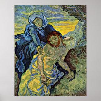 ヴィンチェンツォウィレムゴッホ著ピエタ(Delacroixの後で) ポスター