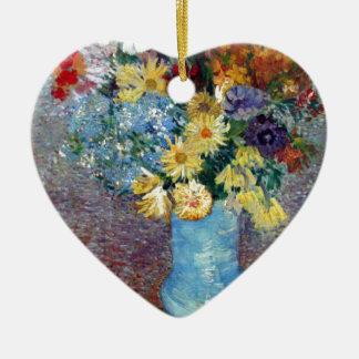 ヴィンチェンツォウィレムゴッホ-青いつぼの花 セラミックオーナメント