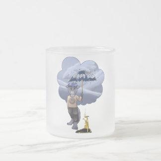 ヴィンチェンツォ-傘 フロストグラスマグカップ