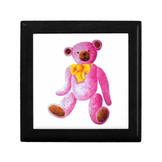 ヴィンテージか従来型のピンクのテディー・ベア ギフトボックス