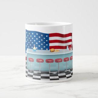 ヴィンテージすべてのアメリカのダイナー ジャンボコーヒーマグカップ