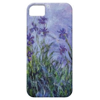 ヴィンテージによっては薄紫のアイリス1917年のMonetの植物相の芸術が開花します iPhone SE/5/5s ケース