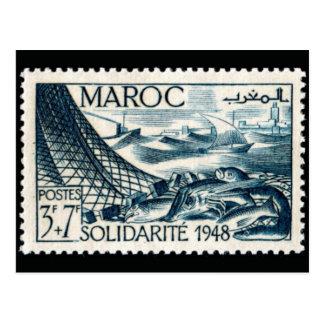 ヴィンテージによって刻まれるスタンプの郵便はがき ポストカード