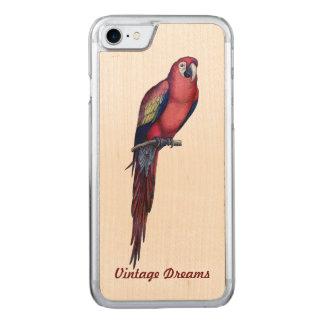 """""""ヴィンテージによって""""は- Macaw氏が夢を見ます Carved iPhone 8/7 ケース"""