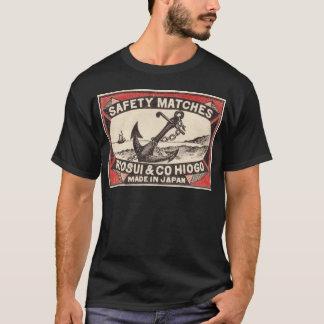 ヴィンテージのいかりのマッチ箱のロゴ Tシャツ
