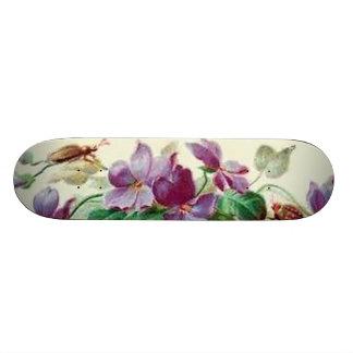 ヴィンテージのいくじなしの花柄の虫の女の子らしい女の子のスケートボード スケートボード