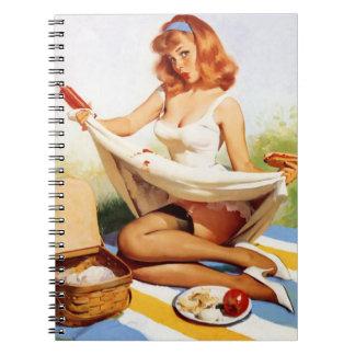 ヴィンテージのいけないピクニックPin ノートブック