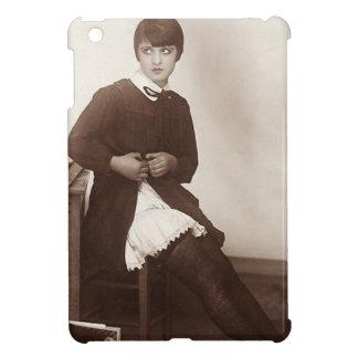 ヴィンテージのいけない学校の女の子 iPad MINI カバー