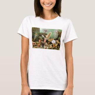 ヴィンテージのいそぎんちゃく、海洋生物動物 Tシャツ