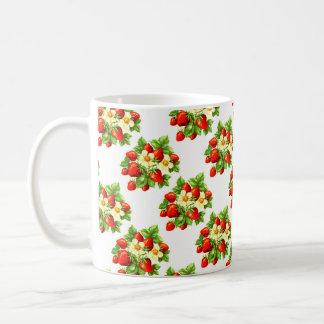 ヴィンテージのいちご コーヒーマグカップ